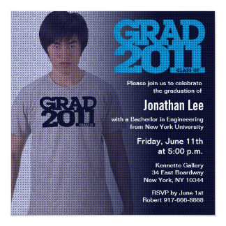 Graduation 2011 Invitation Photo Blue Filter 2