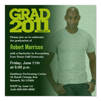 Graduation 2011 Invitation Photo Green Filter 4