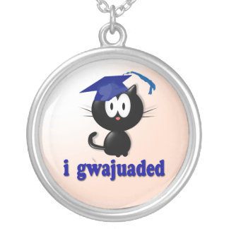Graduation 2011 silver plated necklace