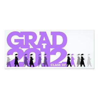 Graduation 2012 Party Invitation Procession Purple