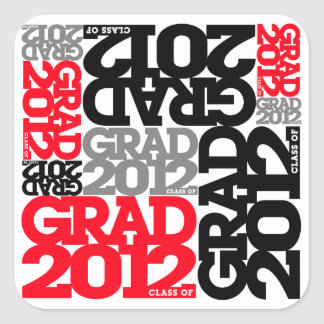 Graduation 2012 Sticker Black Red
