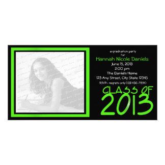Graduation 2013 Neon Green Photo Card