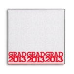 Graduation 2013 Square Envelope Red Gray