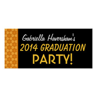 Graduation 2014 or Any Year Custom Name Gold Poster