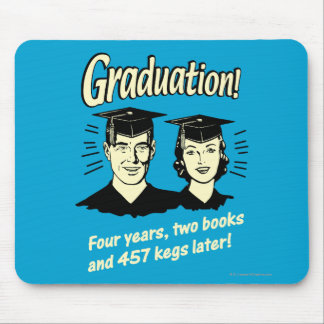 Graduation: 4 Years, 2 Books Mouse Pad