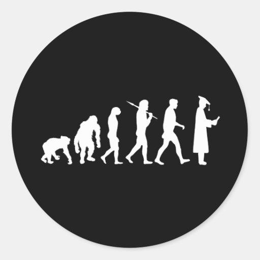 Graduation Academics Graduate Evolution Academia Round Sticker
