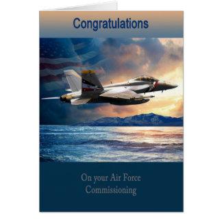 Graduation Air Force Commissioning, F 18 Card
