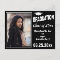 Graduation Annoucement Photo Save The Date Announcement Postcard