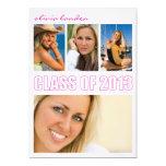 Graduation Announcement  |  4 Photos Pink