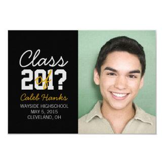 "Graduation Announcement | Class of ? |blyellow 3.5"" X 5"" Invitation Card"