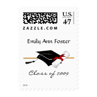 Graduation Announcement Custom Postage Stamps