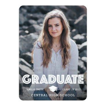 USA Themed Graduation Announcement - Graduate & Celebrate