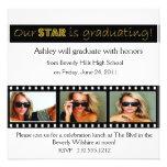 Graduation Announcement Hollywood Star Gold