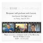 Graduation Announcement Hollywood Star Silver