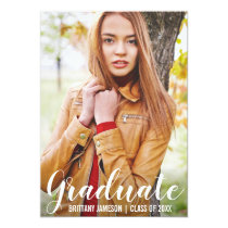Graduation Announcement Modern Photo Card WL