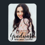 "Graduation Announcement Modern Photo Magnet BL<br><div class=""desc"">Graduation Announcement Modern Photo Magnet</div>"