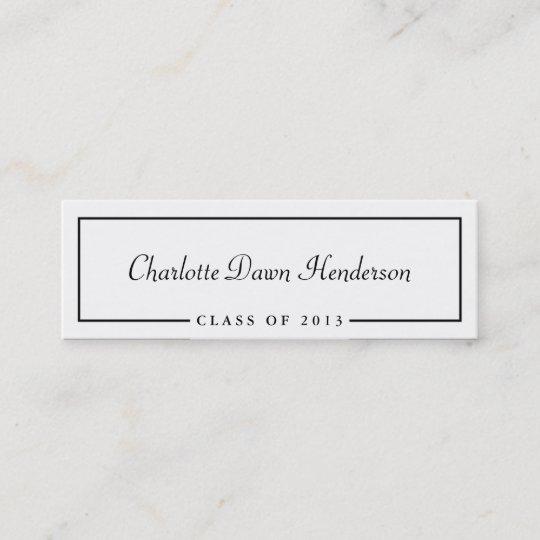graduation announcement name card border class of zazzle com