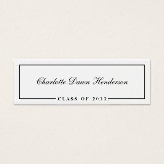 Graduation announcement name card border Class of