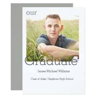 Graduation Announcement photo card