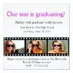 "Graduation Announcement Photo Card Filmstrip 5.25"" Square Invitation Card"