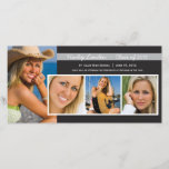 """Graduation Announcement Photo Cards    Black<br><div class=""""desc"""">Other colors. If you don&#39;t see your school colors,  simply contact me at &quot;orangeostrichdesigns@gmail.com&quot; and I will create it for you.</div>"""