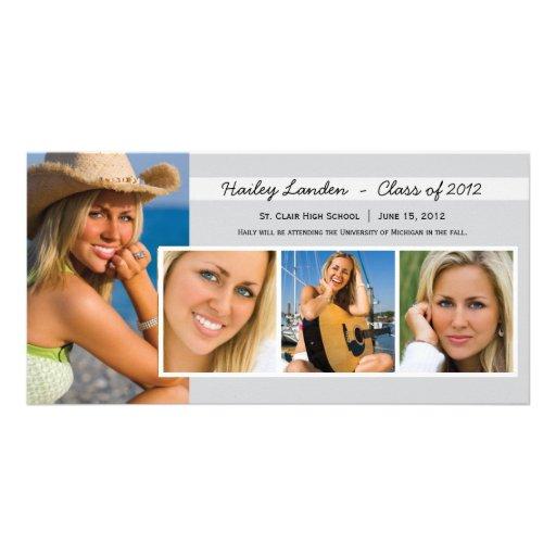 Graduation Announcement Photo Cards    Gray