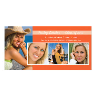 Graduation Announcement Photo Cards |  Orange