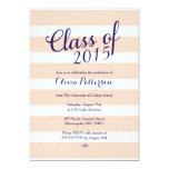 "Graduation Announcement - Pink and Gold Glitter 5"" X 7"" Invitation Card"