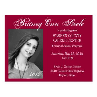 Graduation Announcement Postcard