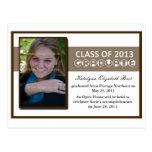 Graduation Announcement Ribbon Postcard