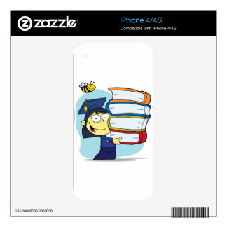 Graduation Asian Girl Decals For The iPhone 4S