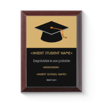 Graduation Award Plaque