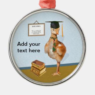 Graduation, Baby Sandhill Crane Metal Ornament