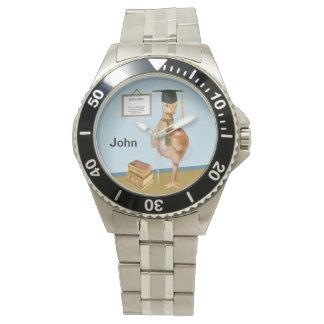 Graduation, Baby Sandhill Crane, Name Wrist Watch