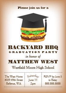 Graduation cookout invitations announcements zazzle graduation backyard barbecue bbq party cookout invitation filmwisefo