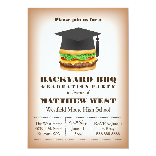 Graduation backyard barbecue bbq party cookout invitation zazzle graduation backyard barbecue bbq party cookout invitation filmwisefo
