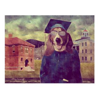 Graduation Basset Postcard