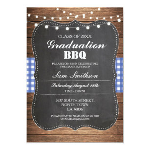 bbq graduation invitations zazzle