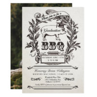Graduation BBQ Invitations - Supreme Vintage