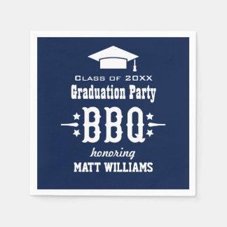 Graduation BBQ Napkins | Custom Color