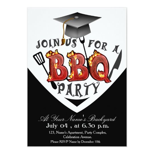 graduation bbq party invitations zazzle com