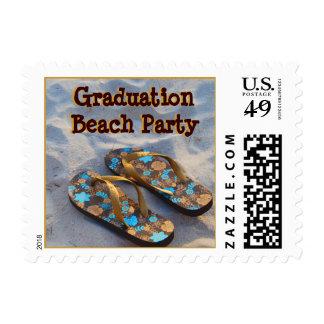 Graduation Beach Party Flip Flop Sandals Postage