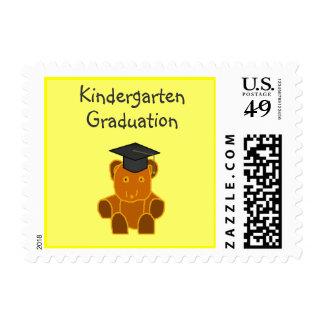 Graduation Bear -pink -postage stamps