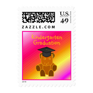 Graduation Bear -postage stamps