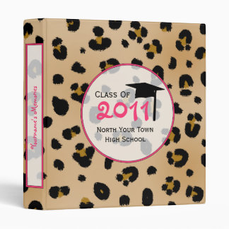 Graduation Binder - Class of 2011 Leopard Print