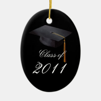 Graduation Black Personalized Christmas Ornament