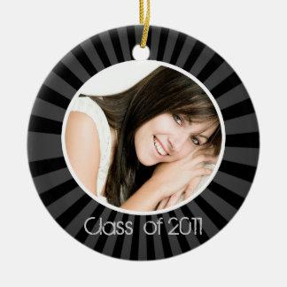 Graduation Black Photo Christmas Ornament