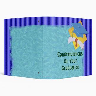 Graduation Blue Stripes Set Binder