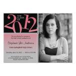 Graduation Blush on Gray Invite