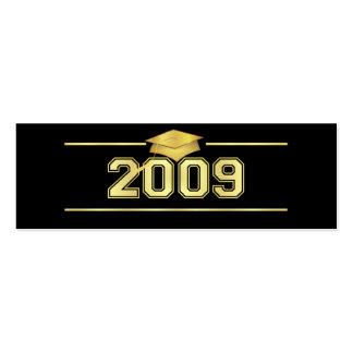 Graduation Bookmark Cards - 2009 Varsity Gold Business Card Templates